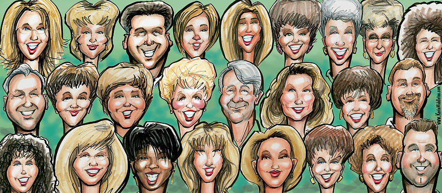 Group Caricature Digital Art