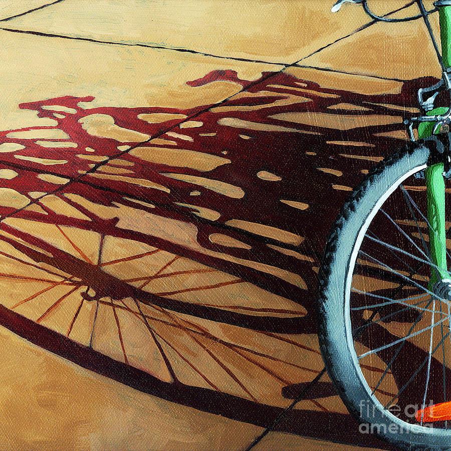 Bicycle Painting - Group Hug - Bicycle Art by Linda Apple