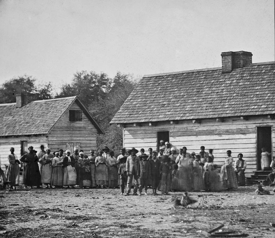 History Photograph - Group Of Slaves On J.j. Smiths by Everett