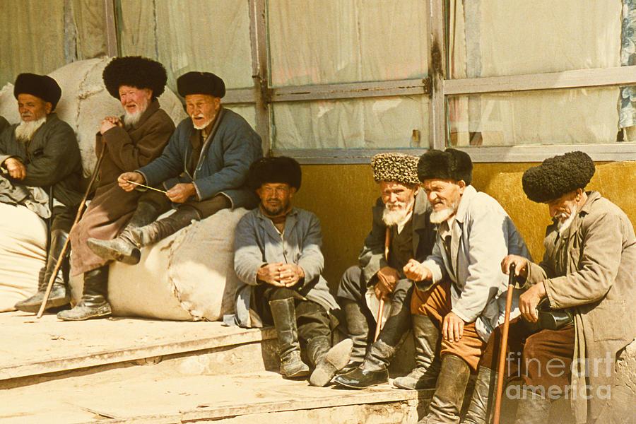 Group Of Uzbek Retirees Photograph