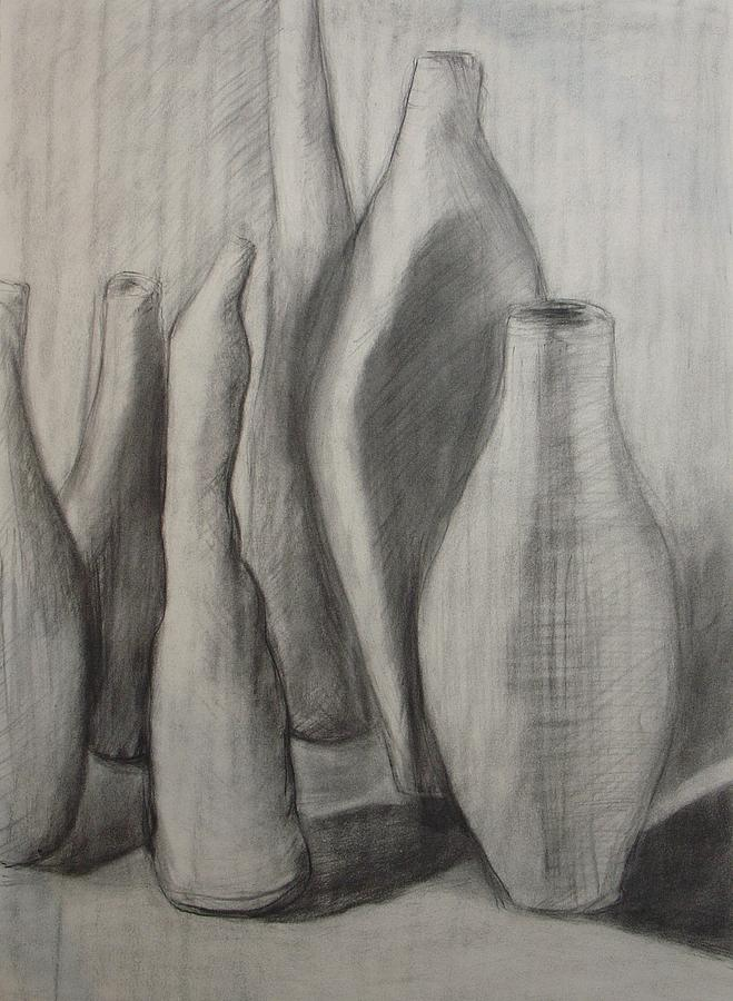 Group Of Vessels Drawing by Leila Atkinson
