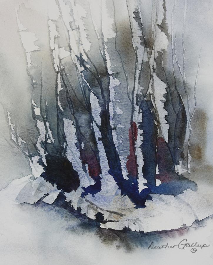 Watercolor Painting - Grove II by Heather Gallup