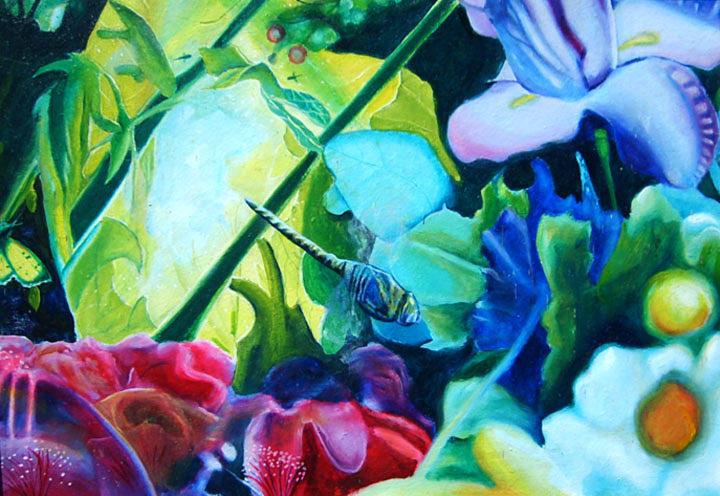 Garden Painting - Grove by Leonard Aitken