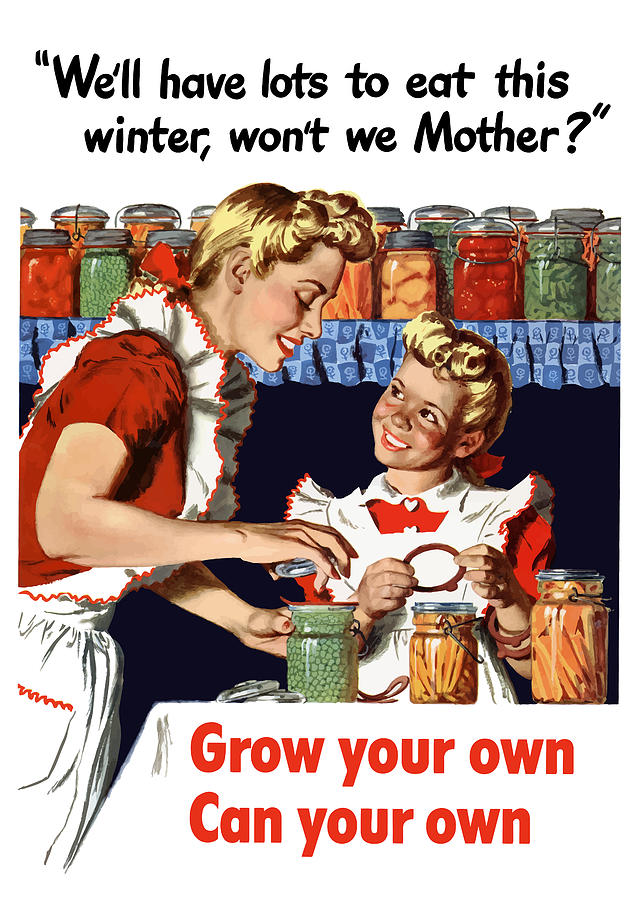 Conservation Painting - Grow Your Own Can Your Own  by War Is Hell Store
