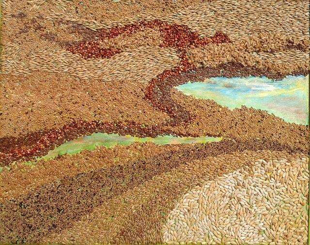 Grains Painting the Prairies II by Naomi Gerrard
