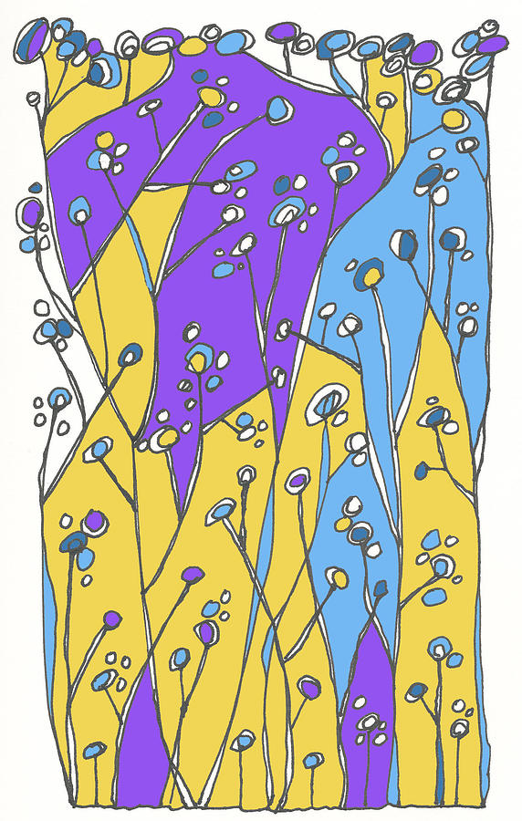 Plants Drawing - Growing Wild by Linda Kay Thomas