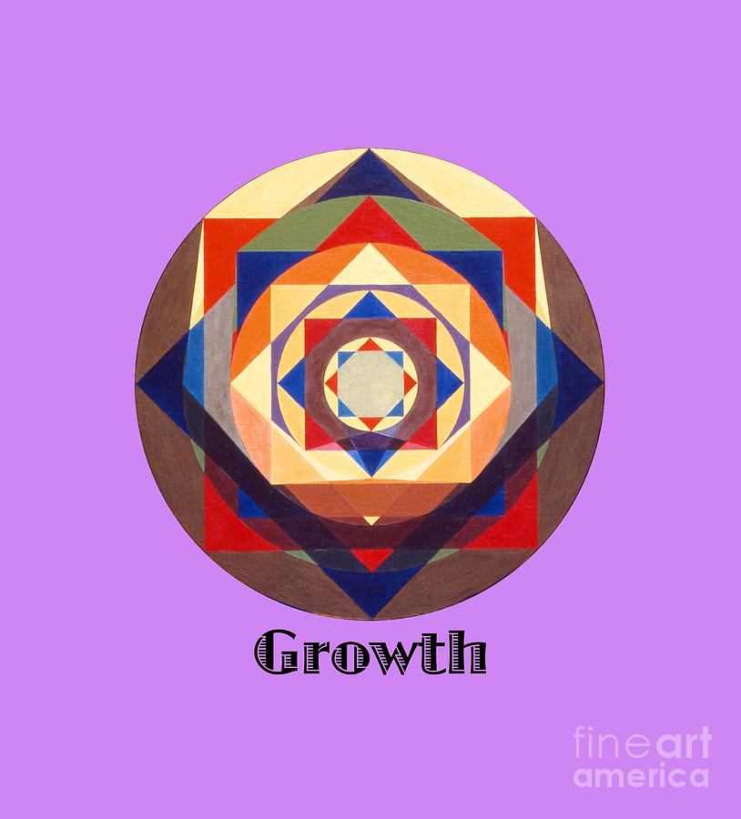 Tarot Painting - Growth text by Michael Bellon