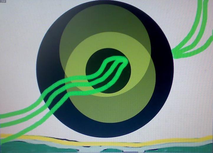 Grren Painting by Satyajit Shergill