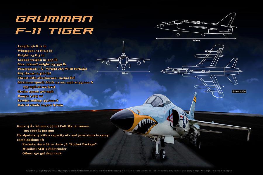 Air Force Photograph - Grumman F-11 Tiger by Richard Hamilton
