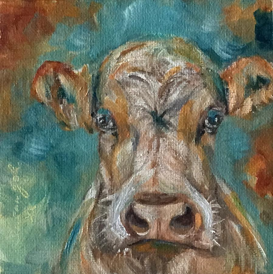 Grumpy cow by Susan Goh