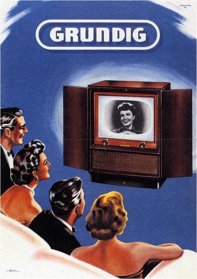 Grundig - German Company - Vintage Advertising Poster Mixed Media