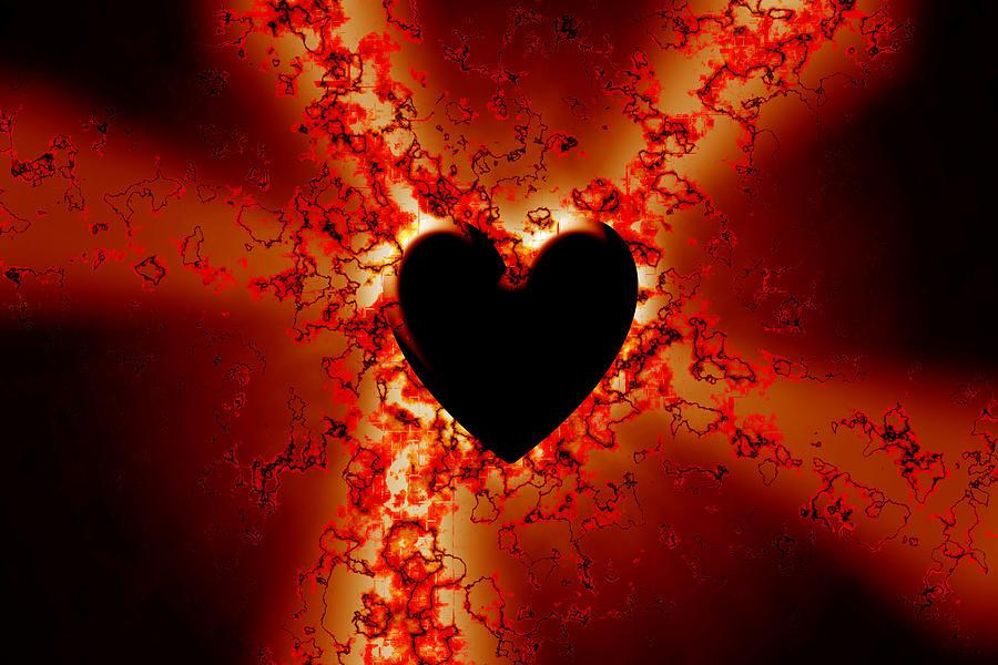 Grunge Digital Art - Grunge Heart by Phill Petrovic