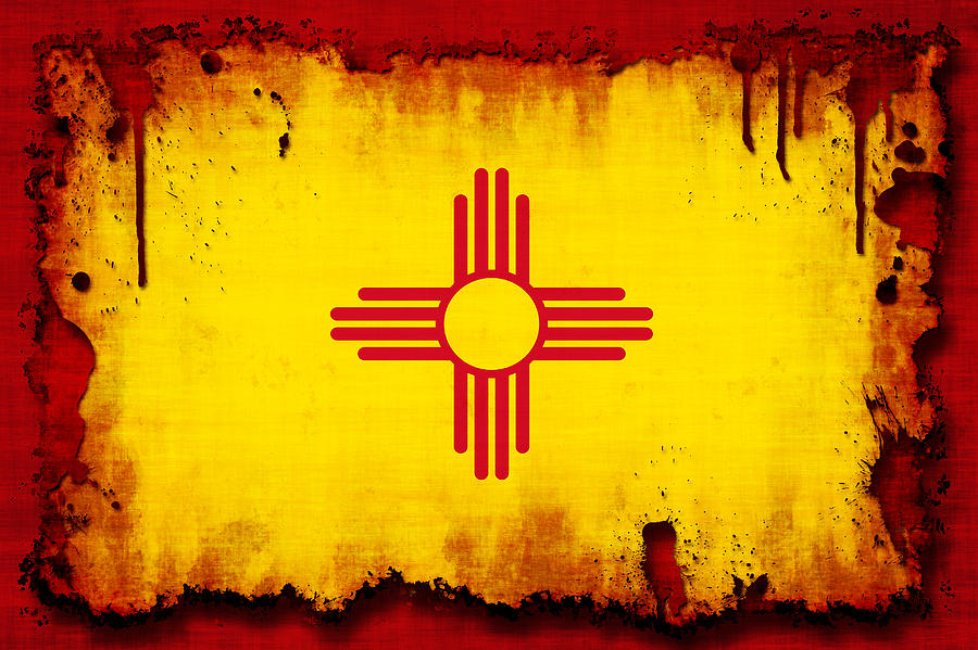 Flag Photograph - Grunge Style New Mexico Flag by David G Paul