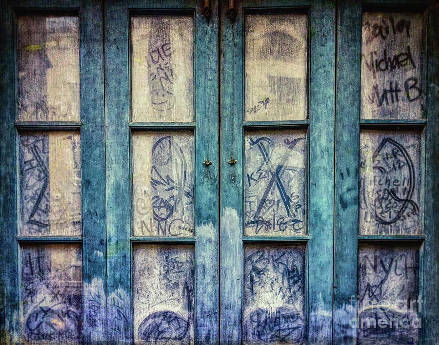Grungy Graffiti Autographed Panes - Nola Photograph