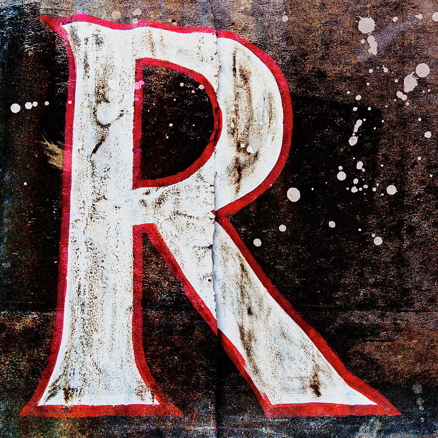 Alphabet Photograph - Grungy Letter R by Carol Leigh