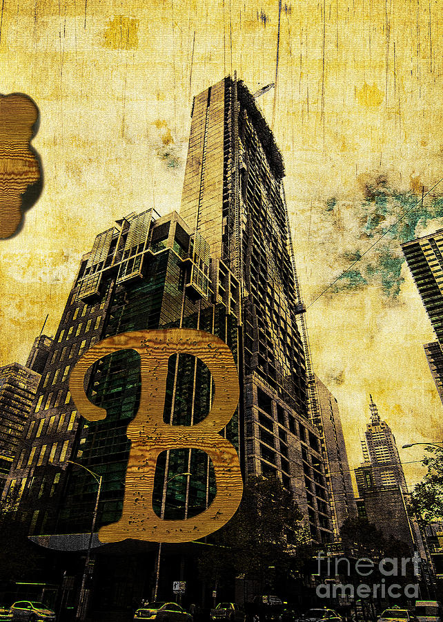 Central Photograph - Grungy Melbourne Australia Alphabet Series Letter B Central Busi by Beverly Claire Kaiya