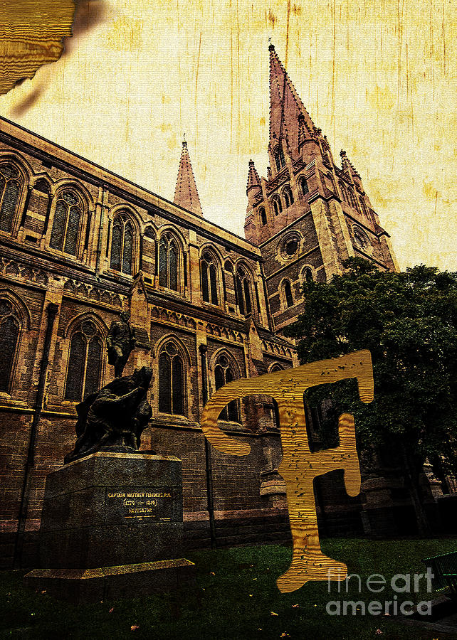 Cultural Photograph - Grungy Melbourne Australia Alphabet Series Letter F Captain Matt by Beverly Claire Kaiya