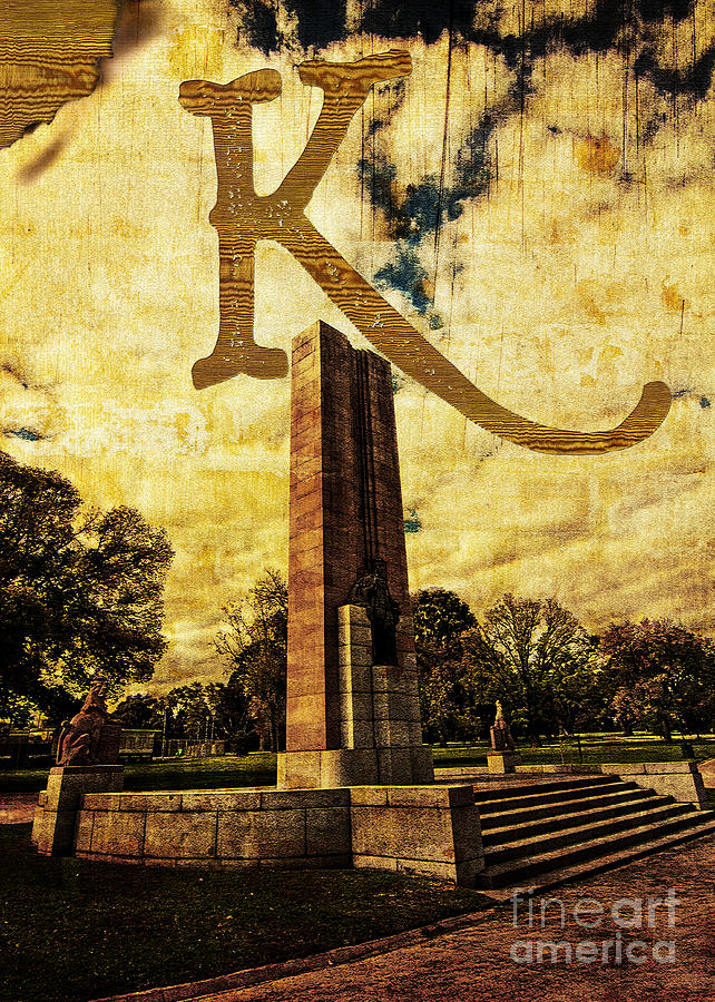 Kings Photograph - Grungy Melbourne Australia Alphabet Series Letter K Kings Domain by Beverly Claire Kaiya