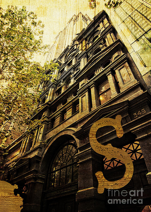 Heritage Photograph - Grungy Melbourne Australia Alphabet Series Letter S Collins Stre by Beverly Claire Kaiya