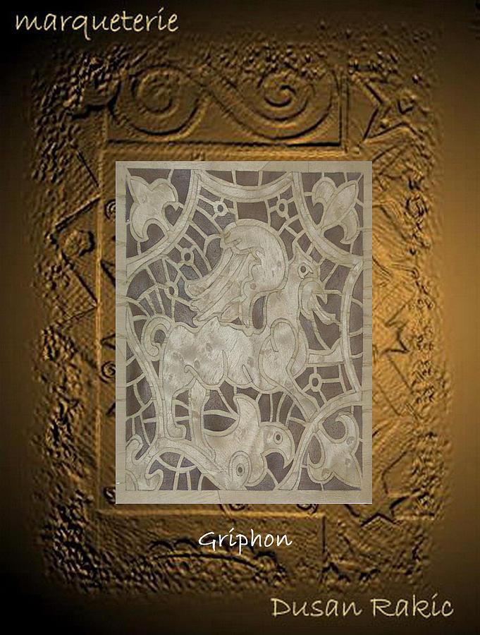 Ornament Mixed Media - Gryphon by Dusan Rakic