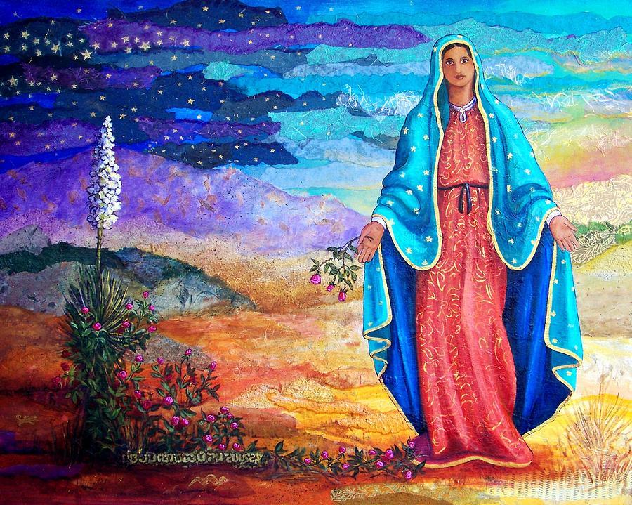 Landscape Mixed Media - Guadalupe De La Frontera by Candy Mayer