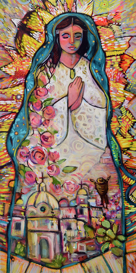 Guadalupe Painting - Guadalupe by Jen Norton