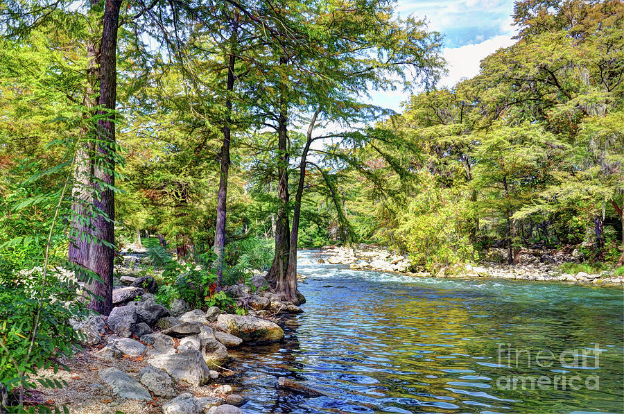 Texas Hill Country Photograph - Guadalupe River - Gruene by Savannah Gibbs
