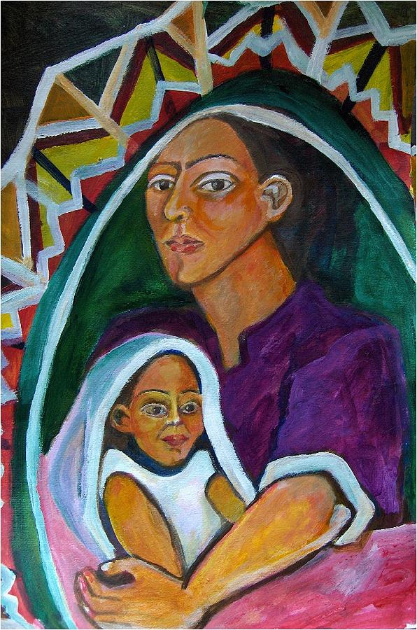 Virgen Mary Painting - Guadalupe by Ruth Olivar Millan