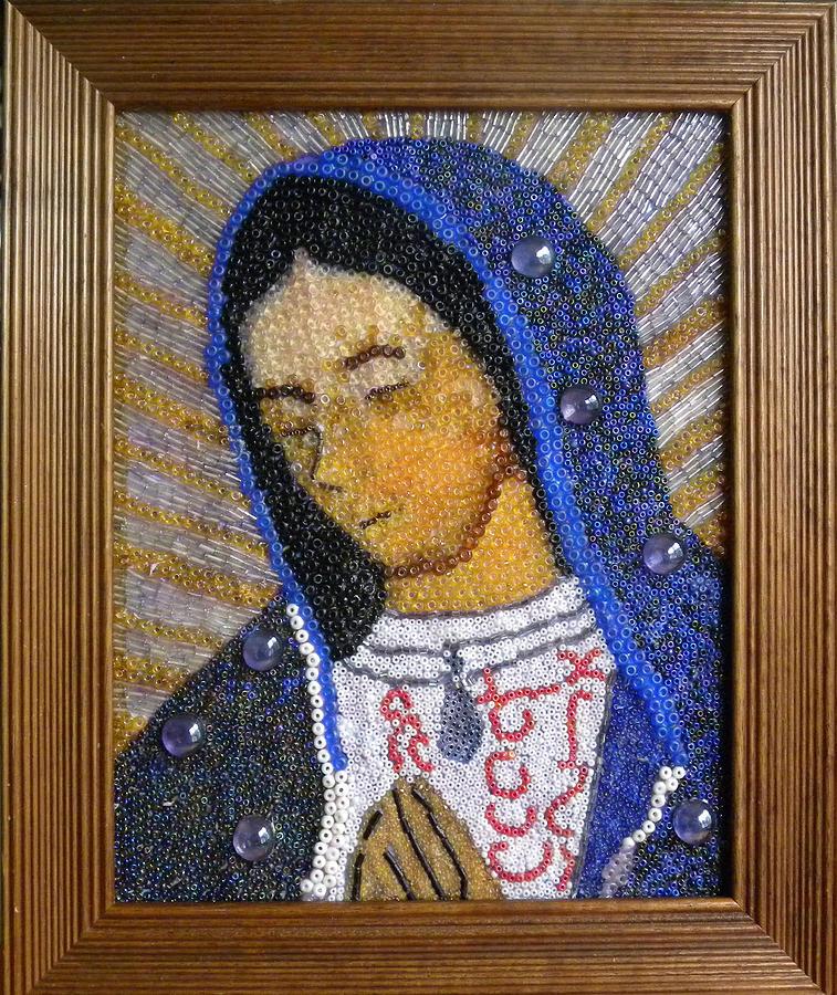 Virgin Mixed Media - Guadalupe Virgin by Arlene Barrios