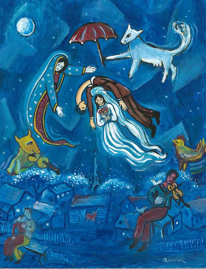 Guadalupe Painting - Guadalupe Visits Chagall by James RODERICK