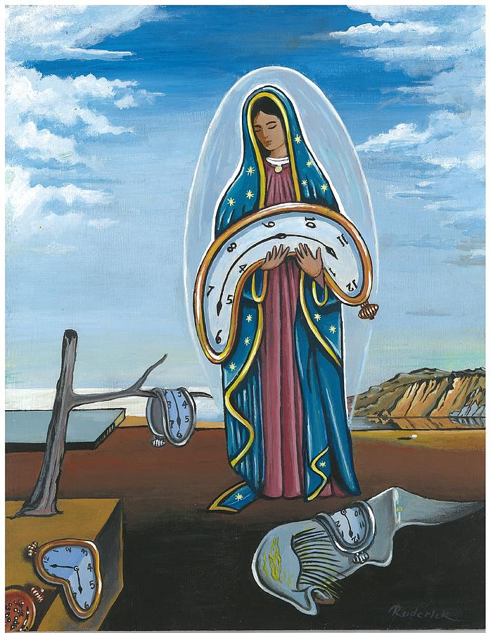 Salvador Dali Painting - Guadalupe Visits Dali by James RODERICK