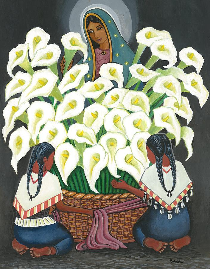 Diego Rivera Painting - Guadalupe Visits Diego Rivera by James RODERICK