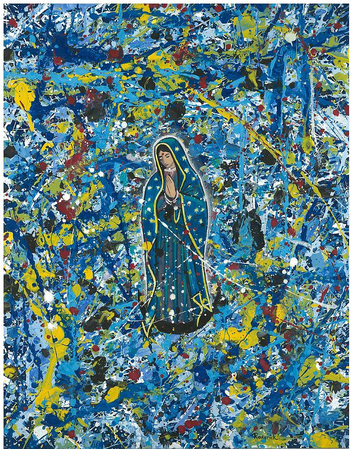 Abstract Impressionism Painting - Guadalupe Visits Pollack by James RODERICK