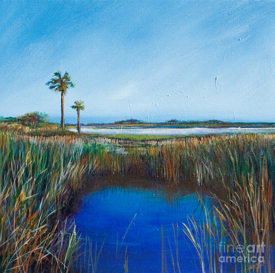 Contemporary Landscape Painting - Guana River Lll by Michele Hollister - for Nancy Asbell