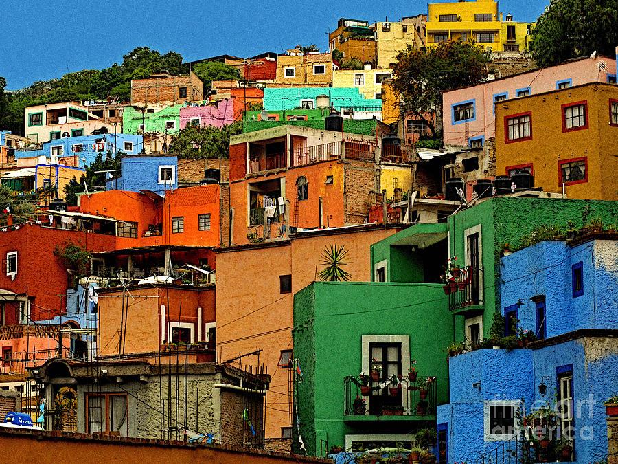 Darian Day Photograph - Guanajuato Hillside 1 by Mexicolors Art Photography
