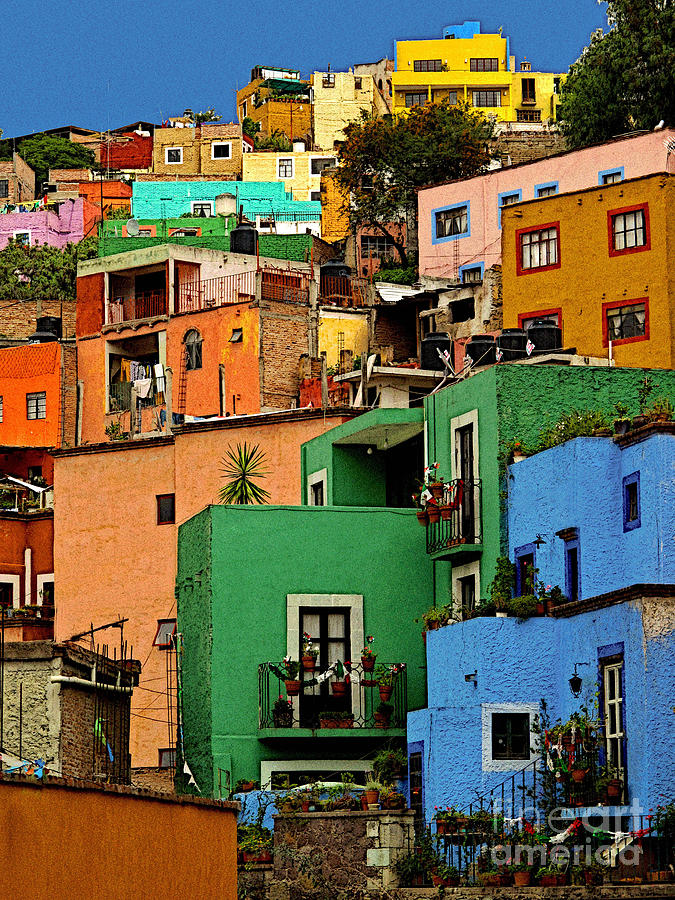 Darian Day Photograph - Guanajuato Hillside 2 by Mexicolors Art Photography