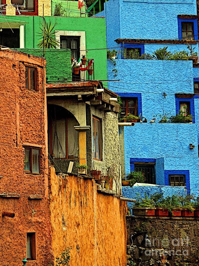 Darian Day Photograph - Guanajuato Hillside 3 by Mexicolors Art Photography
