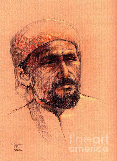 Portrait Painting - Guard by Tina Siddiqui