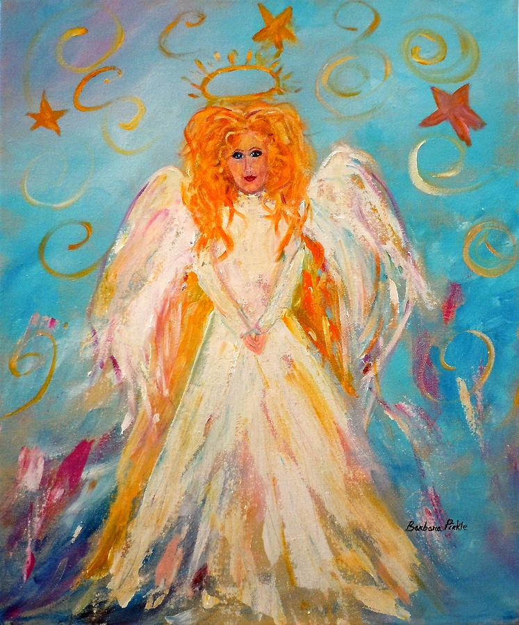 Angel Painting - Guardian Angel by Barbara Pirkle