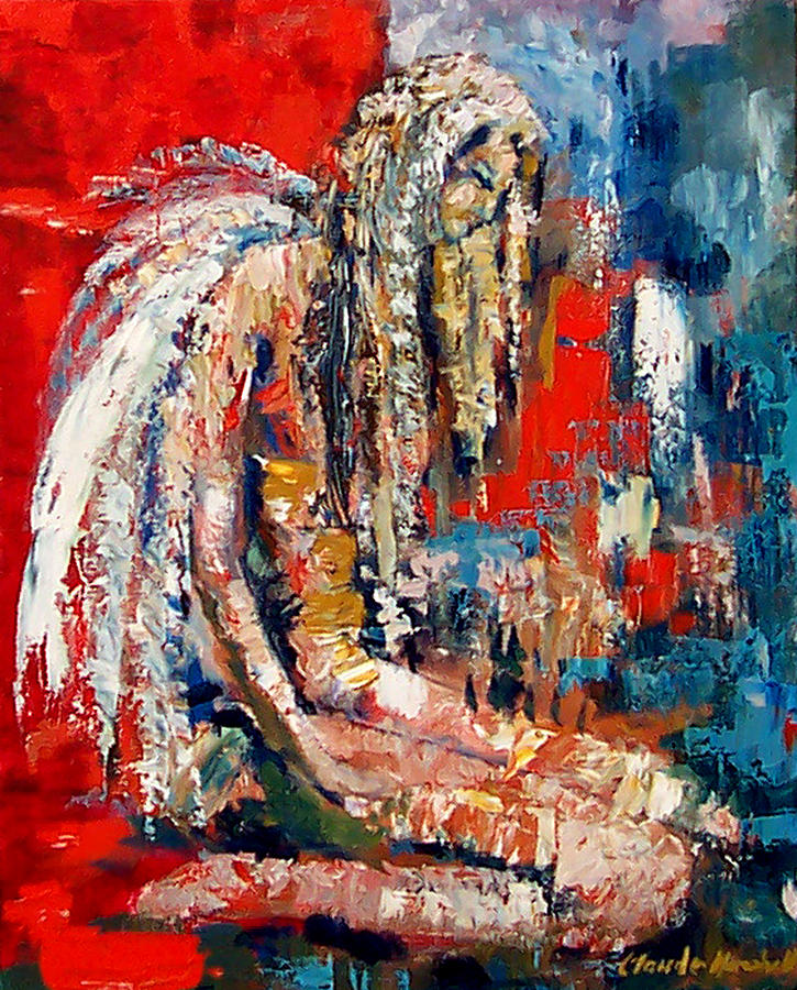 Painting Painting - Guardian Angel by Claude Marshall