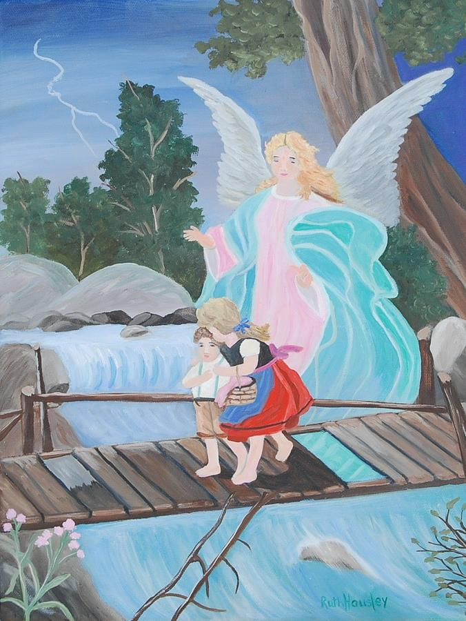 Landscape Painting - Guardian Angel  by Ruth  Housley