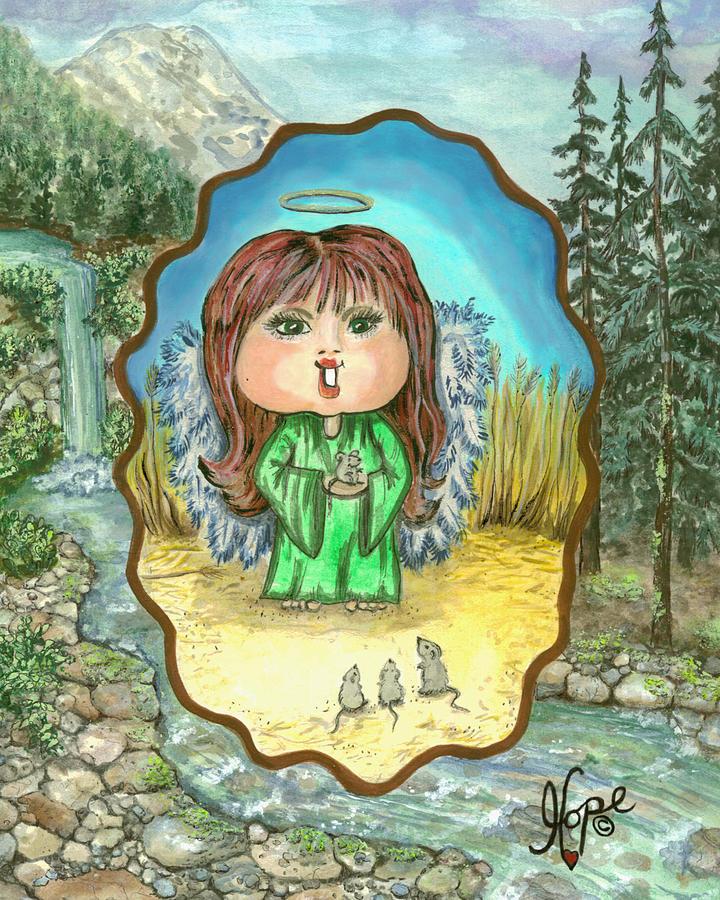 Angel Painting - Guardian Angel Gentleness by Carolyn Hope
