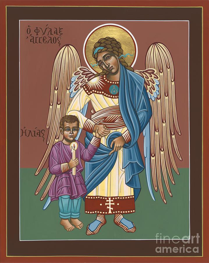 Guardian Angel Guarding Little Elijah Gemmell 191 Painting by William Hart McNichols