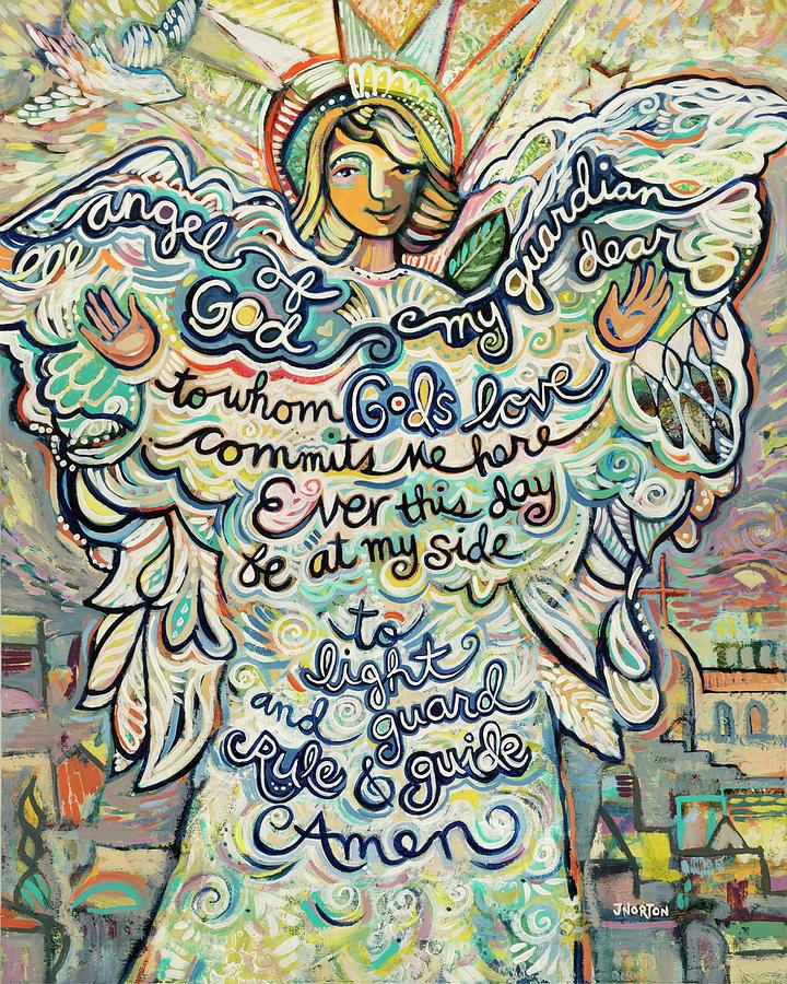 Guardian Angel Painting - Guardian Angel by Jen Norton