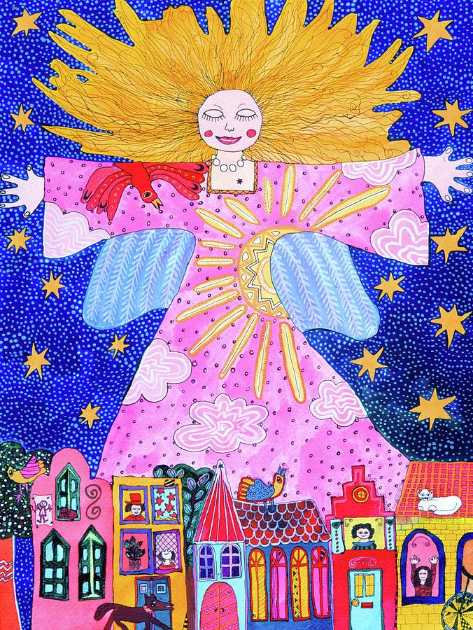 Guardian Angel Painting by Kiki Suarez