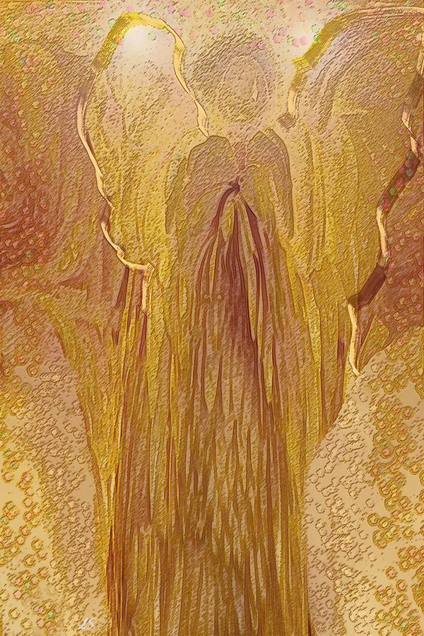 Abstract Expressions Digital Art - Guardian Angel by Linda Sannuti