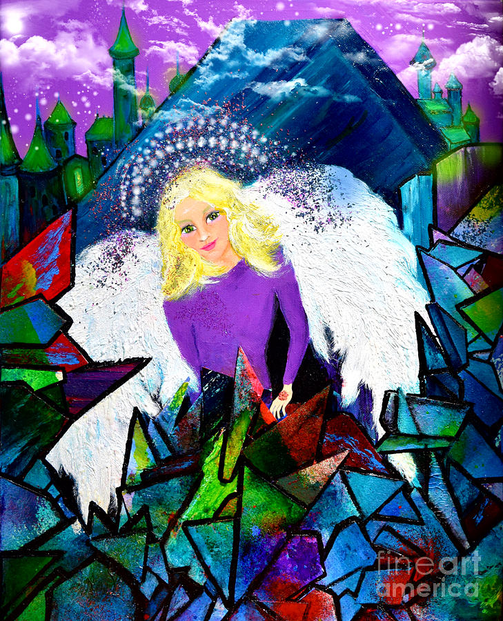 Angel Painting - Guardian Angel by Patricia Motley