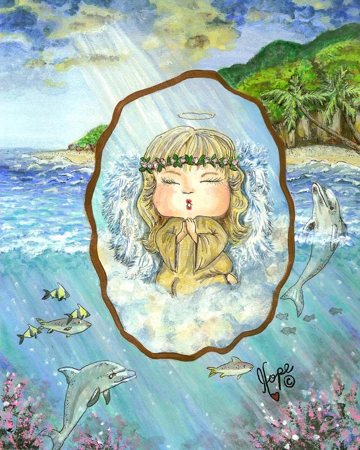 Angel Painting - Guardian Angel Peace by Carolyn Hope
