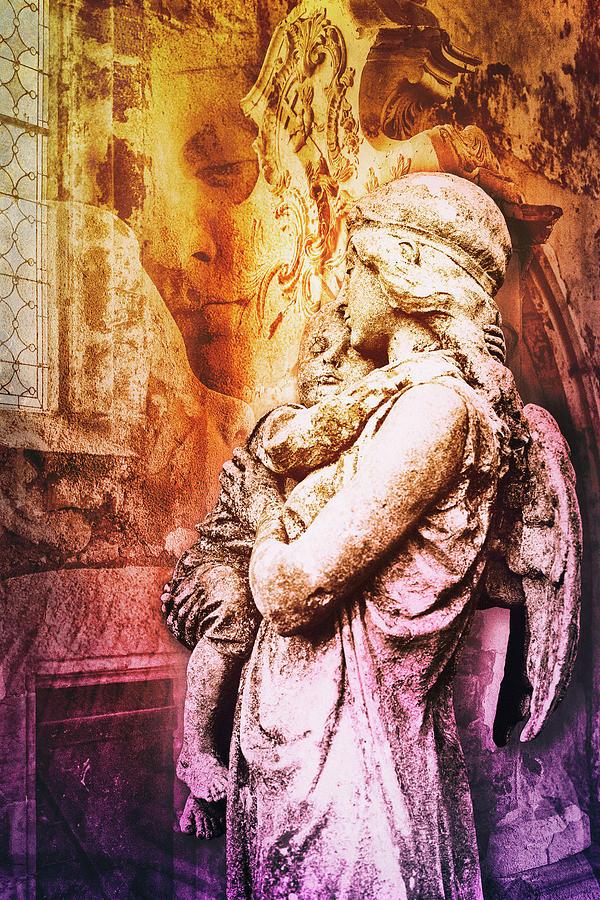 Guardian Angel Digital Art - Guardian Angel by 2bhappy4ever