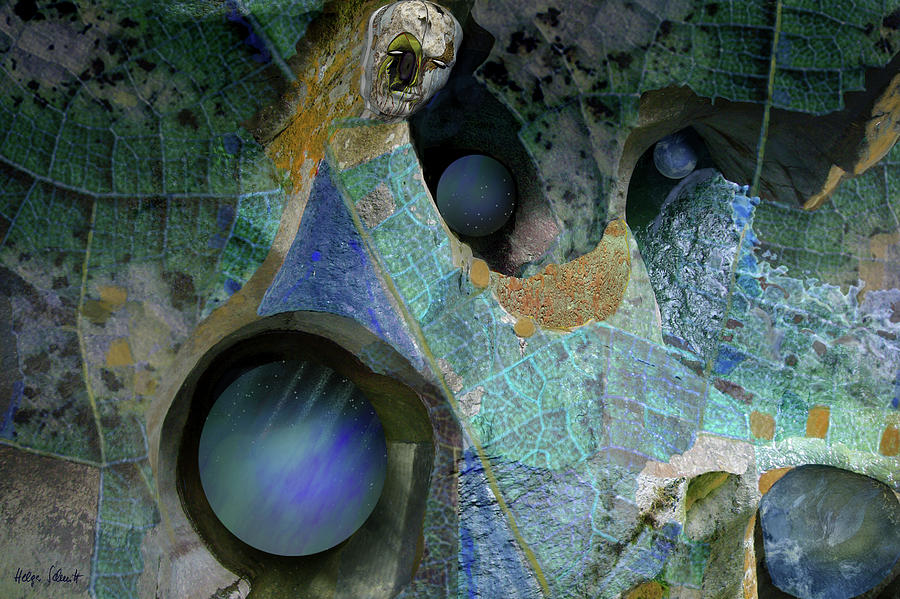 Fantasy Digital Art - Guardian by Helga Schmitt